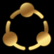 Image of ASLIS Logo in Gold to represent 1920s Theme of ASLIS Banquet.