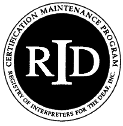 Image of CMP RID Logo - Certification Maintenance Program Registry of Interpreters for the Deaf, Inc.