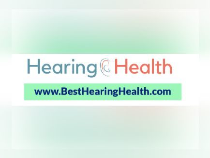 "Picture with white background - text says ""Hearing Health"" with an ear between the words, on the next line it says ""www.besthearinghealth.com"""